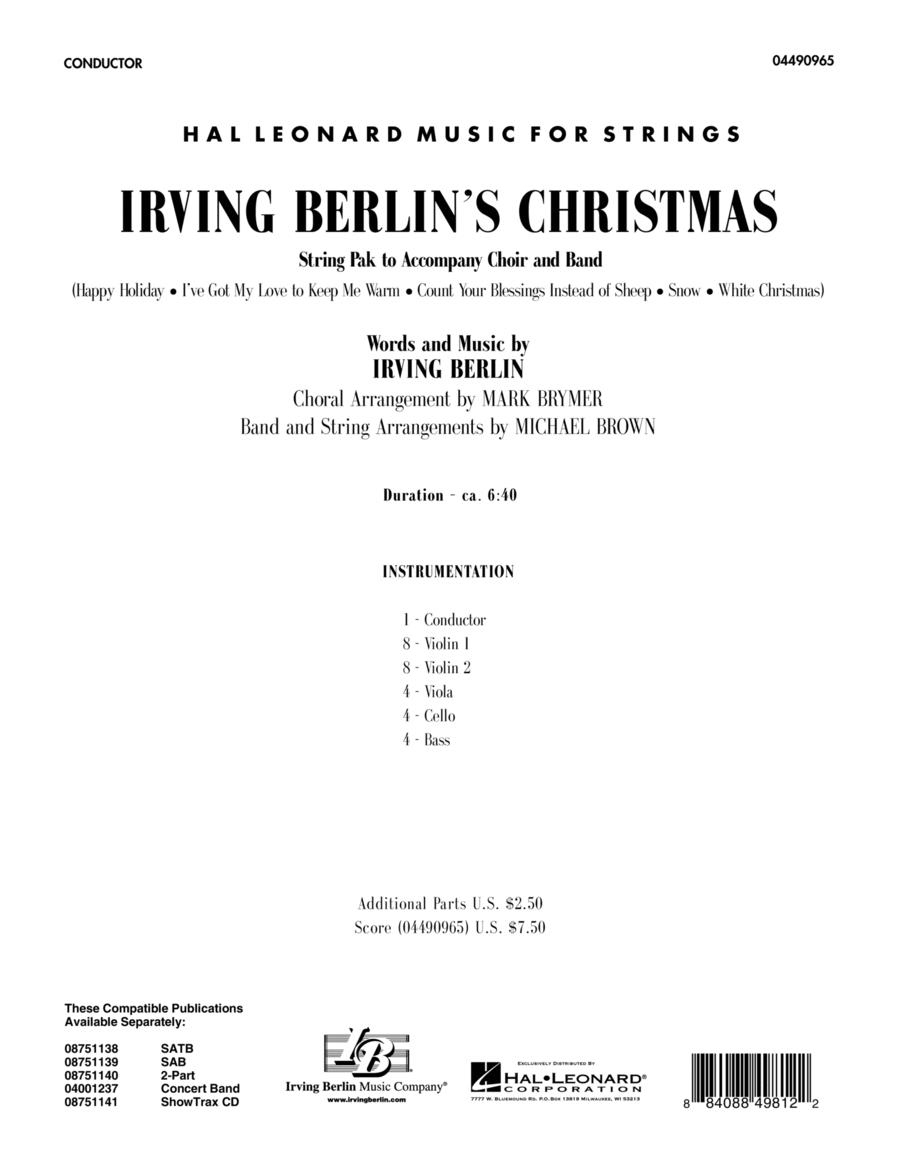 Irving Berlin's Christmas (Medley) - Full Score