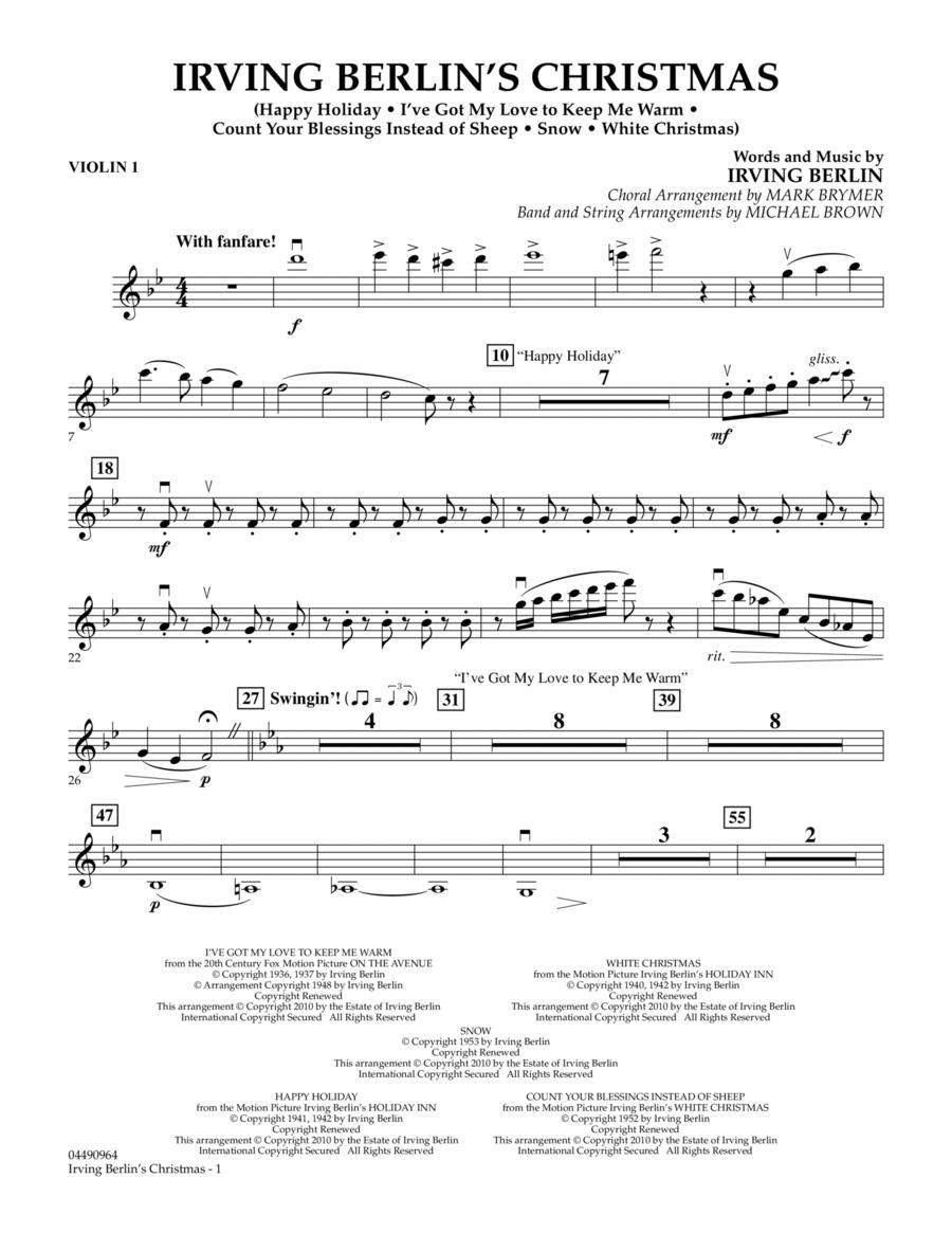 Irving Berlin's Christmas (Medley) - Violin 1