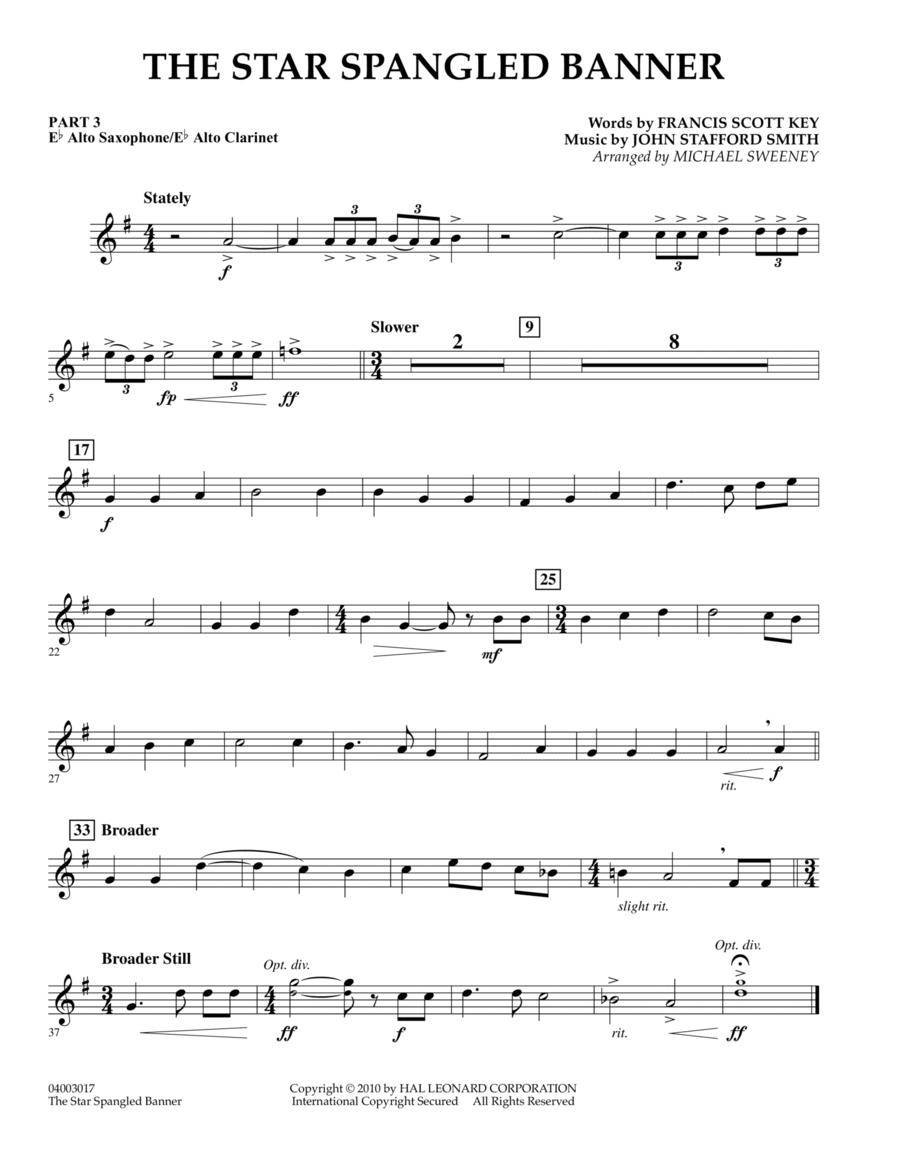 The Star Spangled Banner - Pt.3 - Eb Alto Sax/Alto Clar.