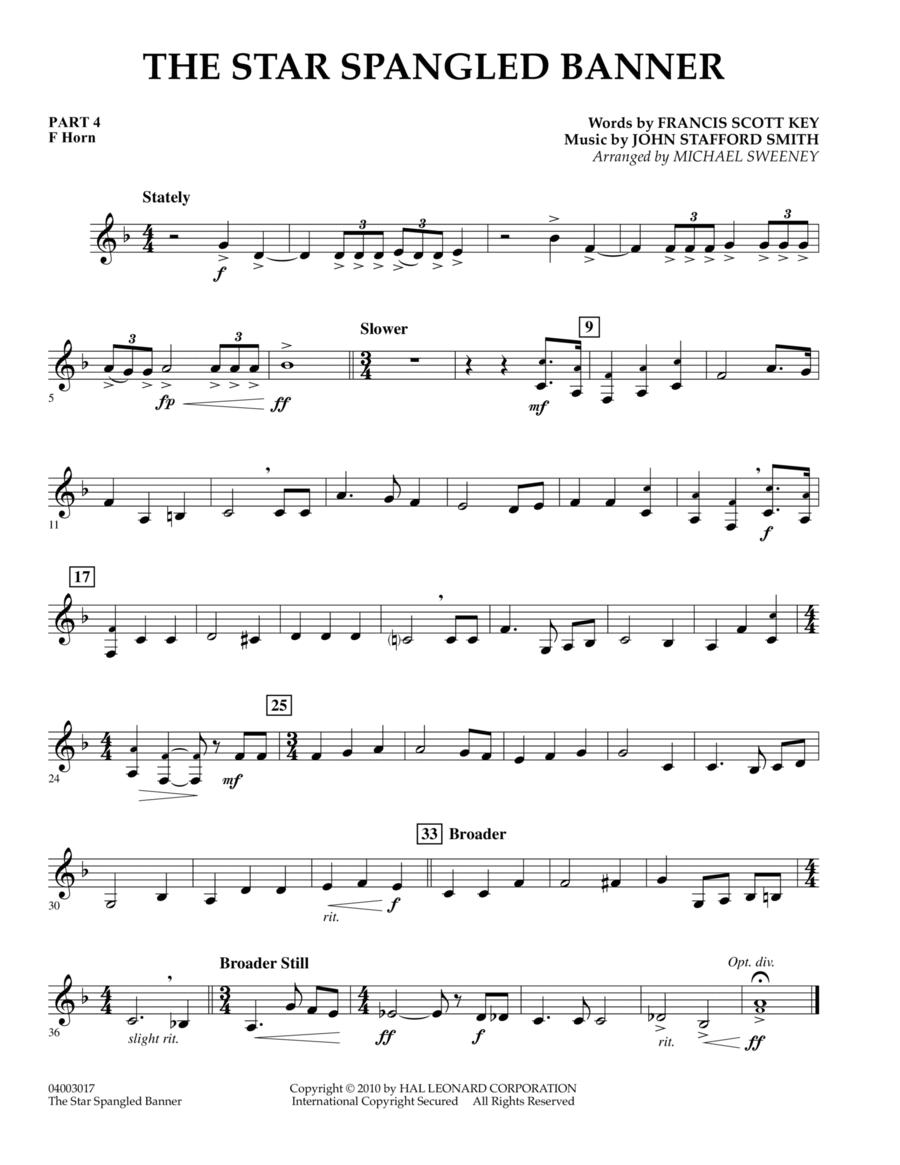 The Star Spangled Banner - Pt.4 - F Horn