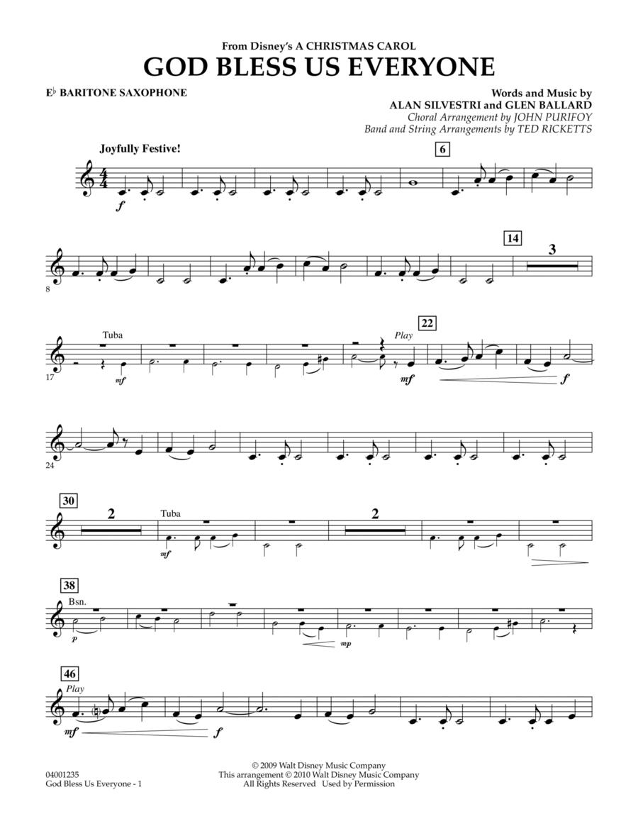 God Bless Us Everyone - Eb Baritone Saxophone