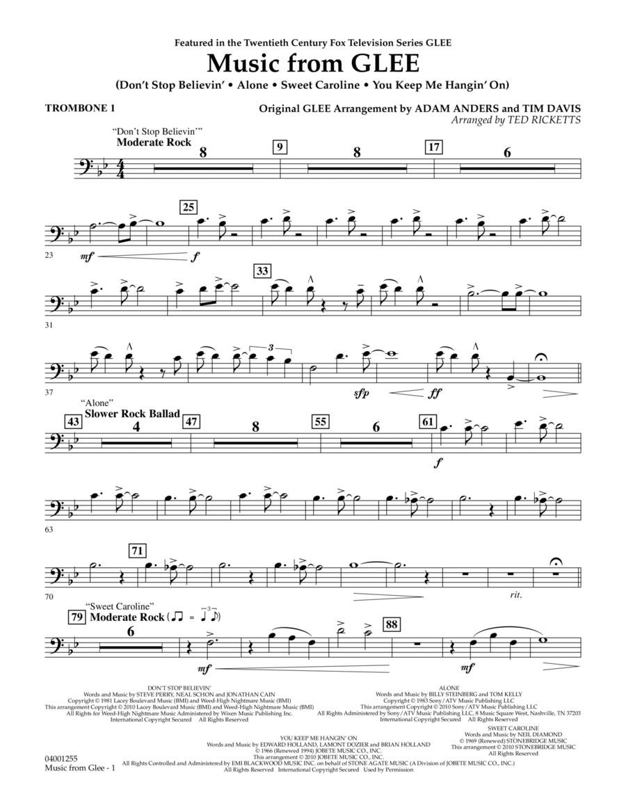 Music from Glee - Trombone 1
