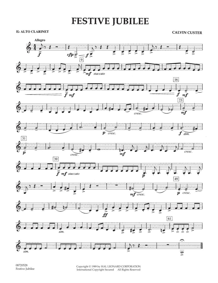 Festive Jubilee - Eb Alto Clarinet