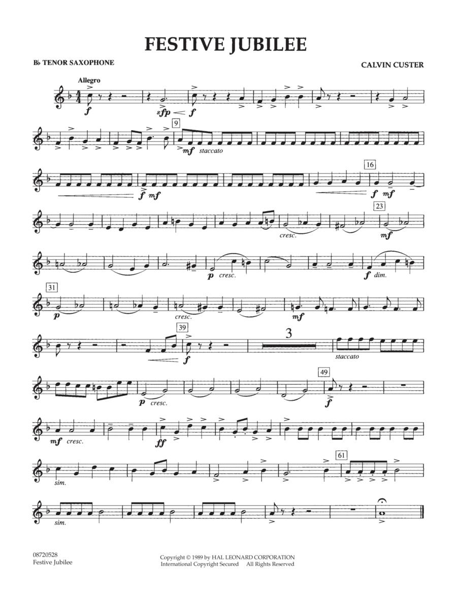 Festive Jubilee - Bb Tenor Saxophone