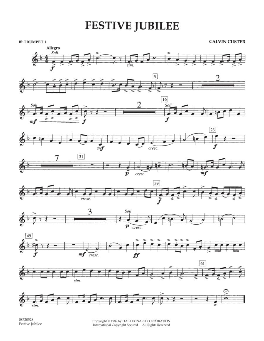 Festive Jubilee - Bb Trumpet 1