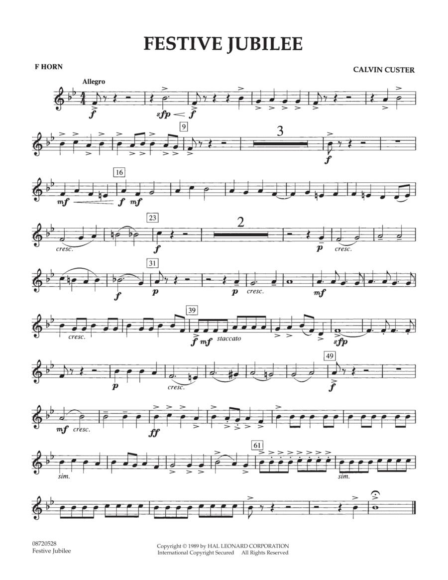 Festive Jubilee - F Horn