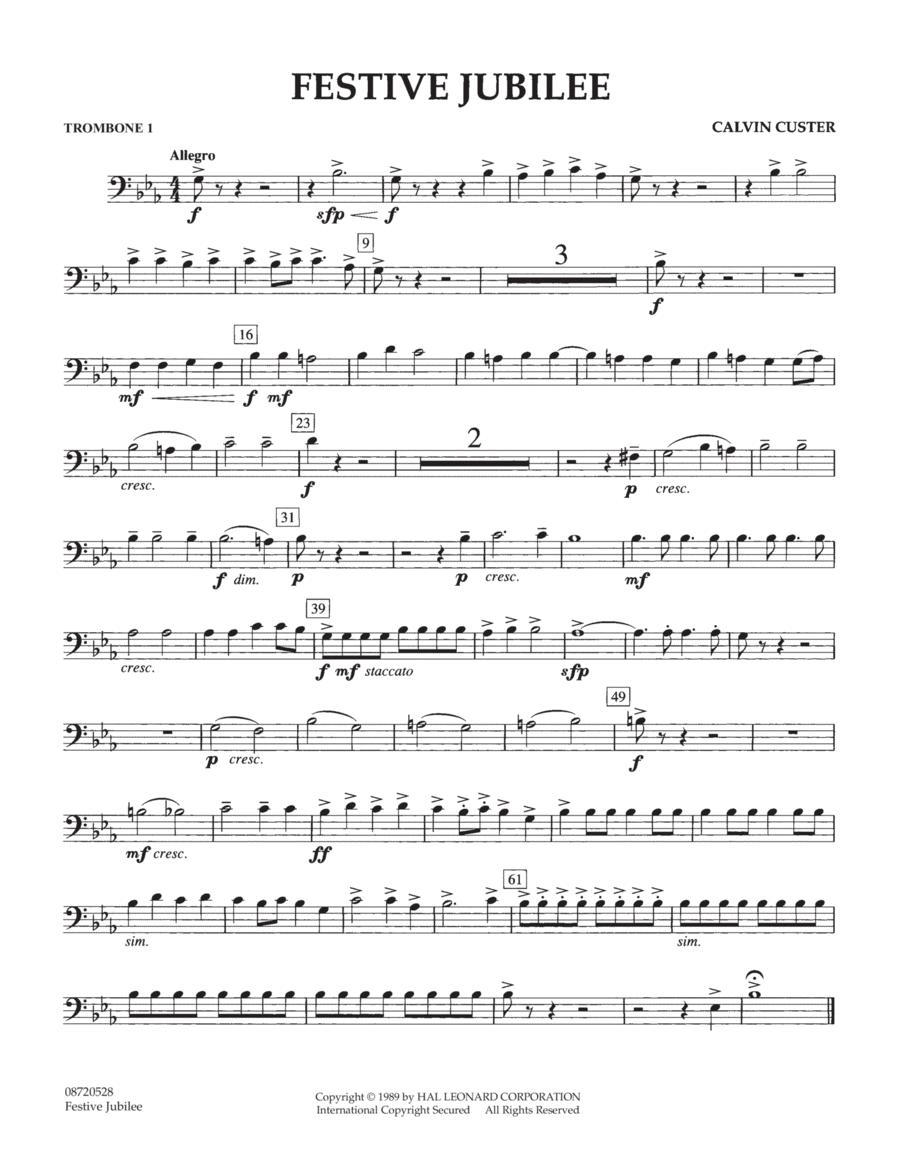 Festive Jubilee - Trombone 1