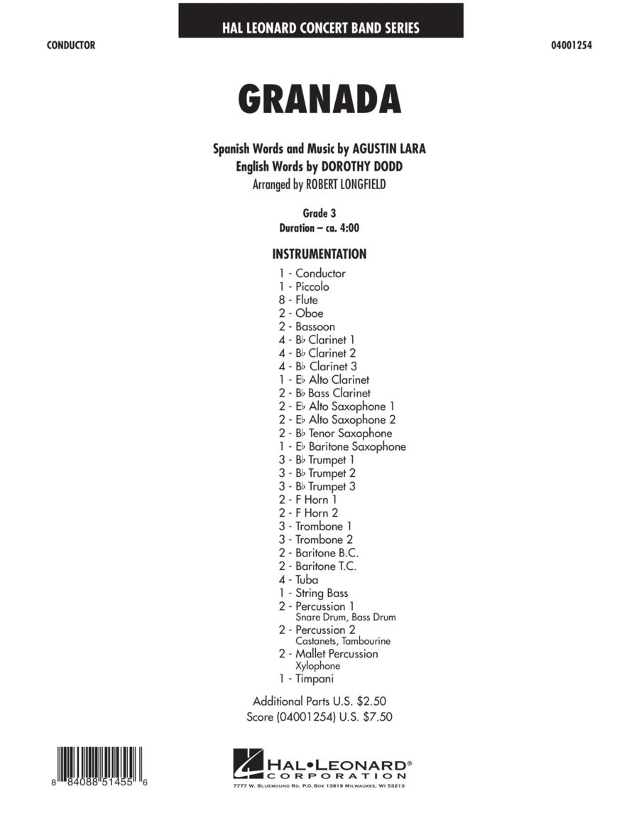 Granada - Full Score