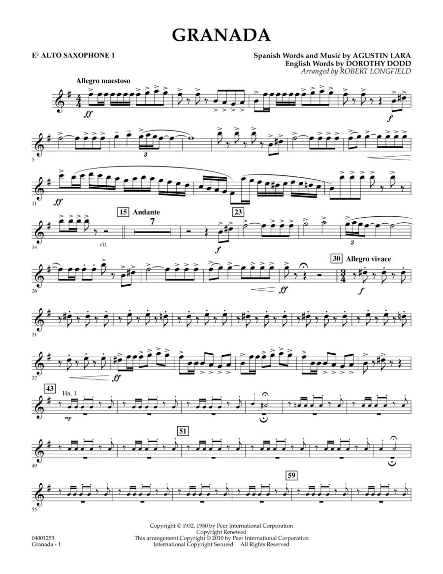 Granada - Eb Alto Saxophone 1