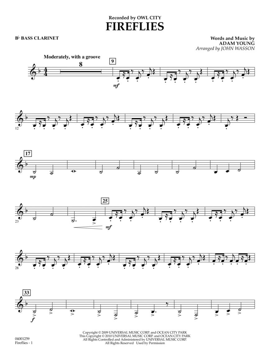 Fireflies - Bb Bass Clarinet
