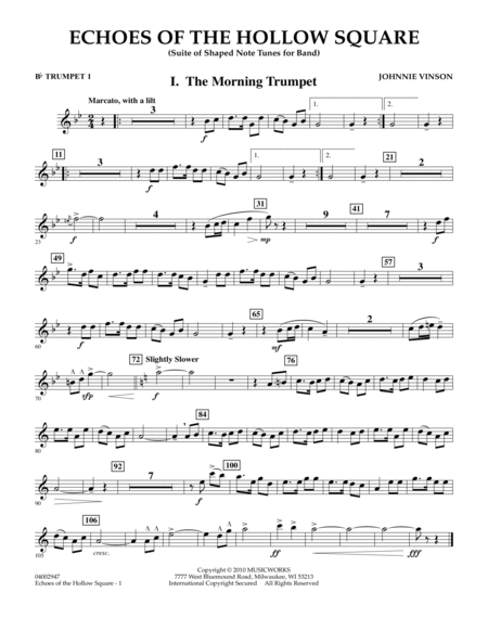 Echoes Of The Hollow Square - Bb Trumpet 1