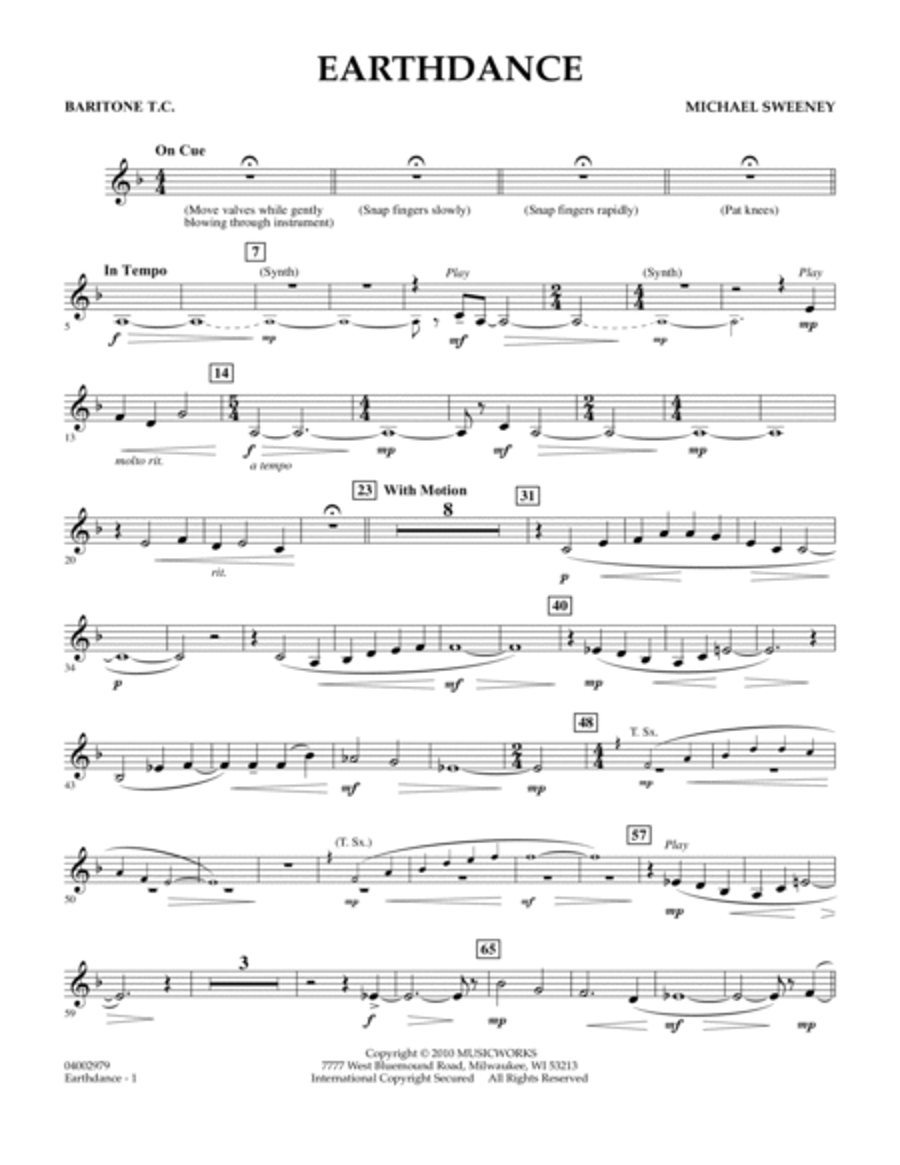 Earthdance - Baritone T.C.