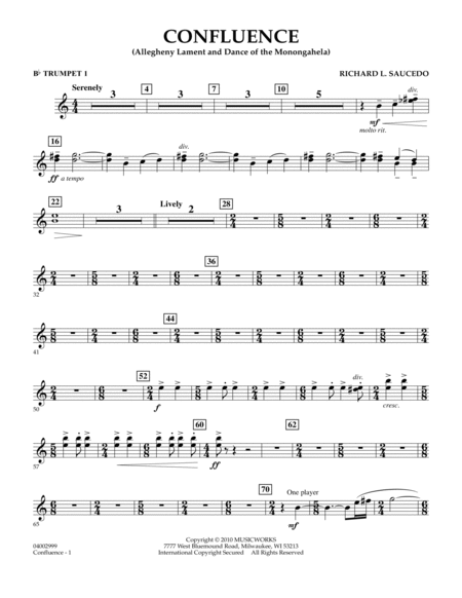 Confluence - Bb Trumpet 1
