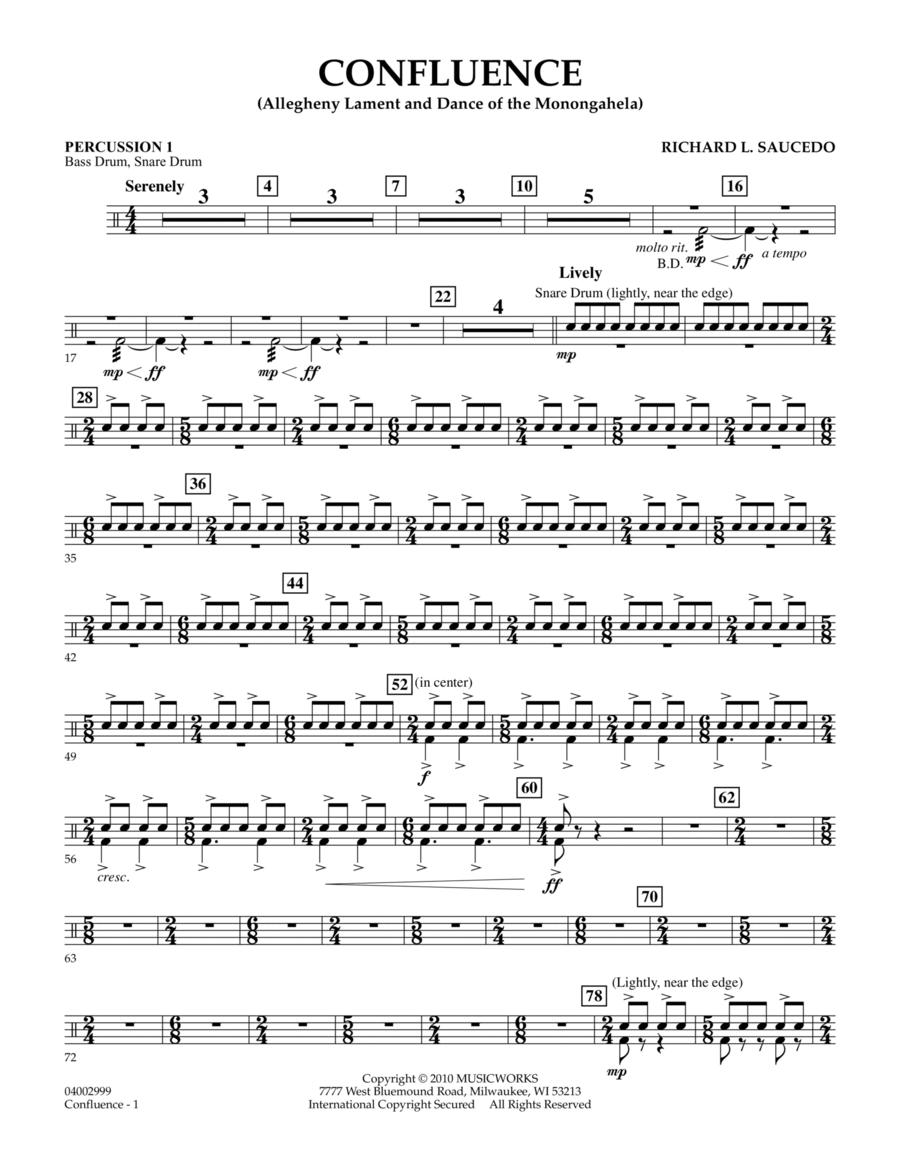 Confluence - Percussion 1
