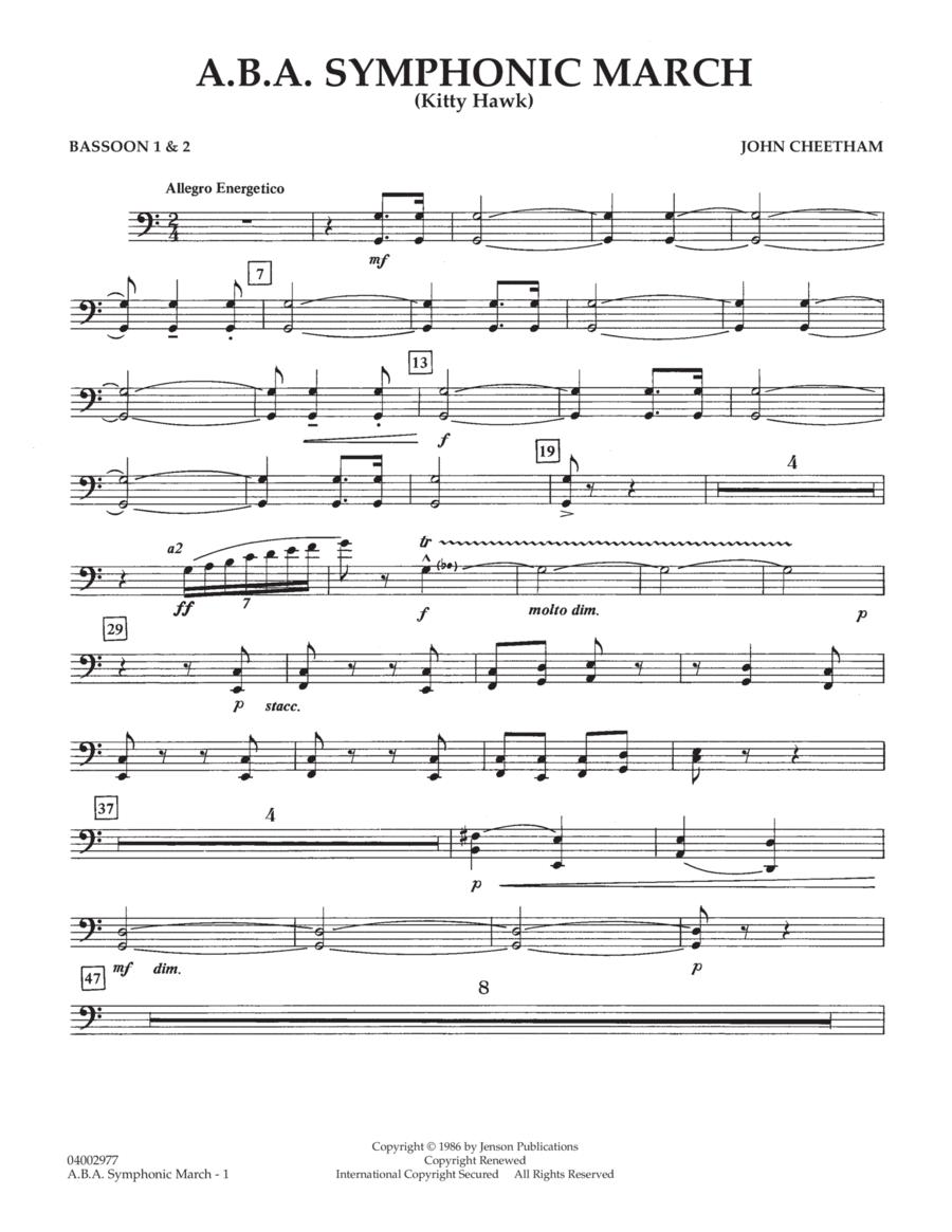 A.B.A. Symphonic March (Kitty Hawk) - Bassoon 1 & 2