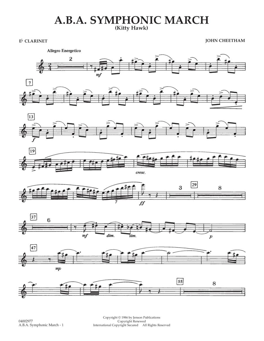 A.B.A. Symphonic March (Kitty Hawk) - Eb Clarinet