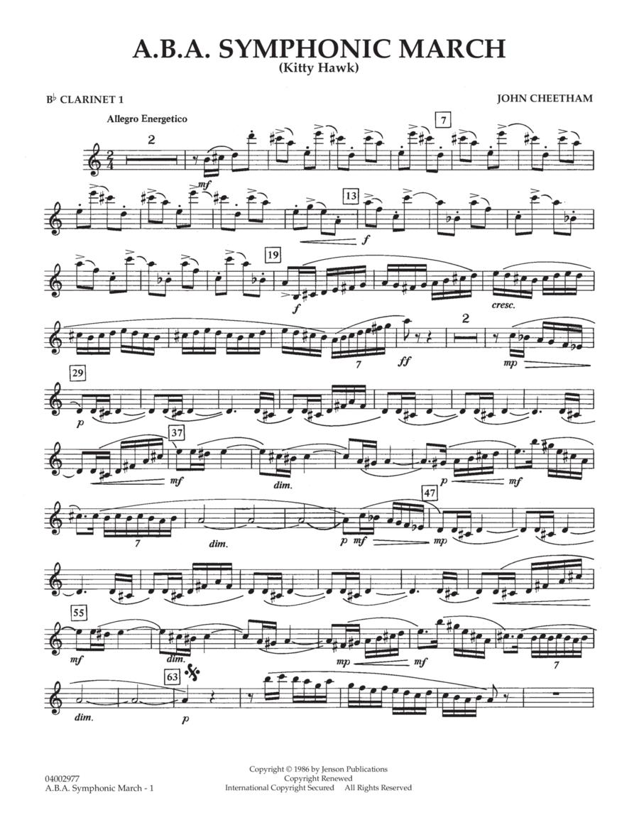 A.B.A. Symphonic March (Kitty Hawk) - Bb Clarinet 1