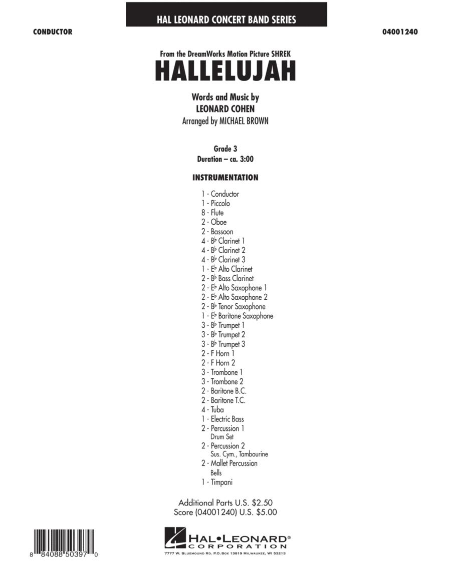 Hallelujah - Conductor Score (Full Score)