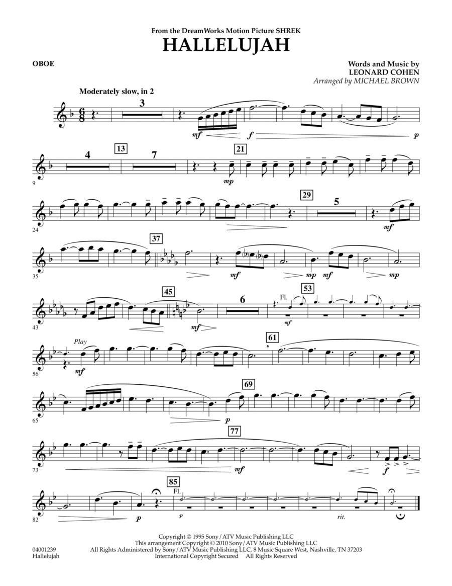 Hallelujah - Oboe