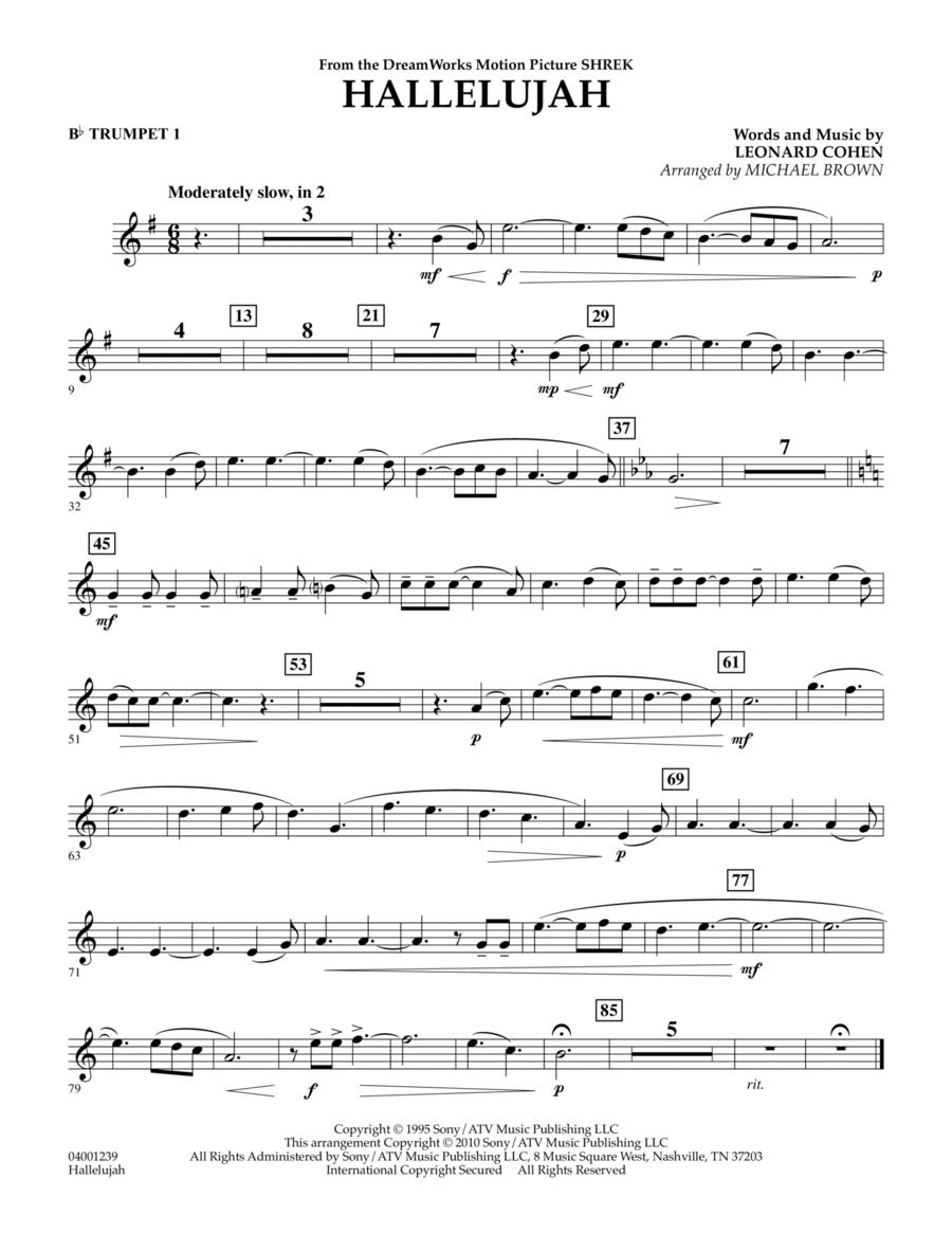 Hallelujah - Bb Trumpet 1
