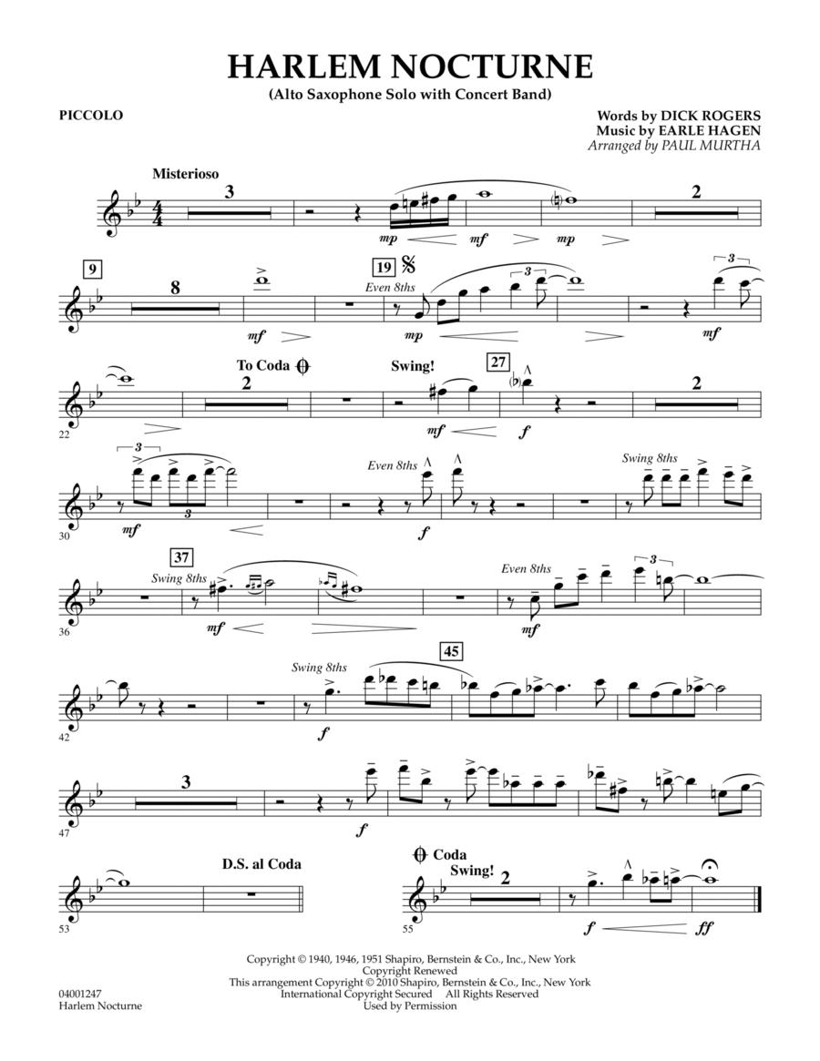 Harlem Nocturne (Alto Sax Solo with Band) - Piccolo