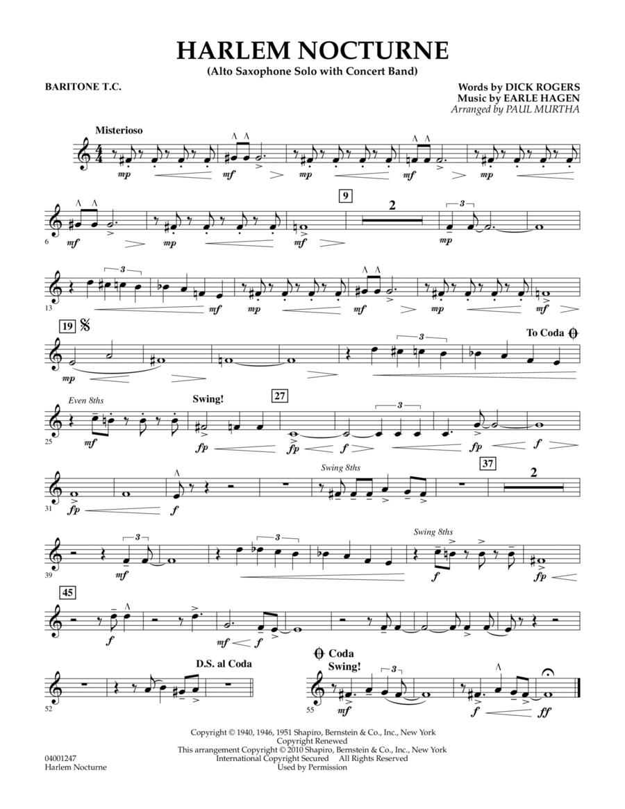 Harlem Nocturne (Alto Sax Solo with Band) - Baritone T.C.