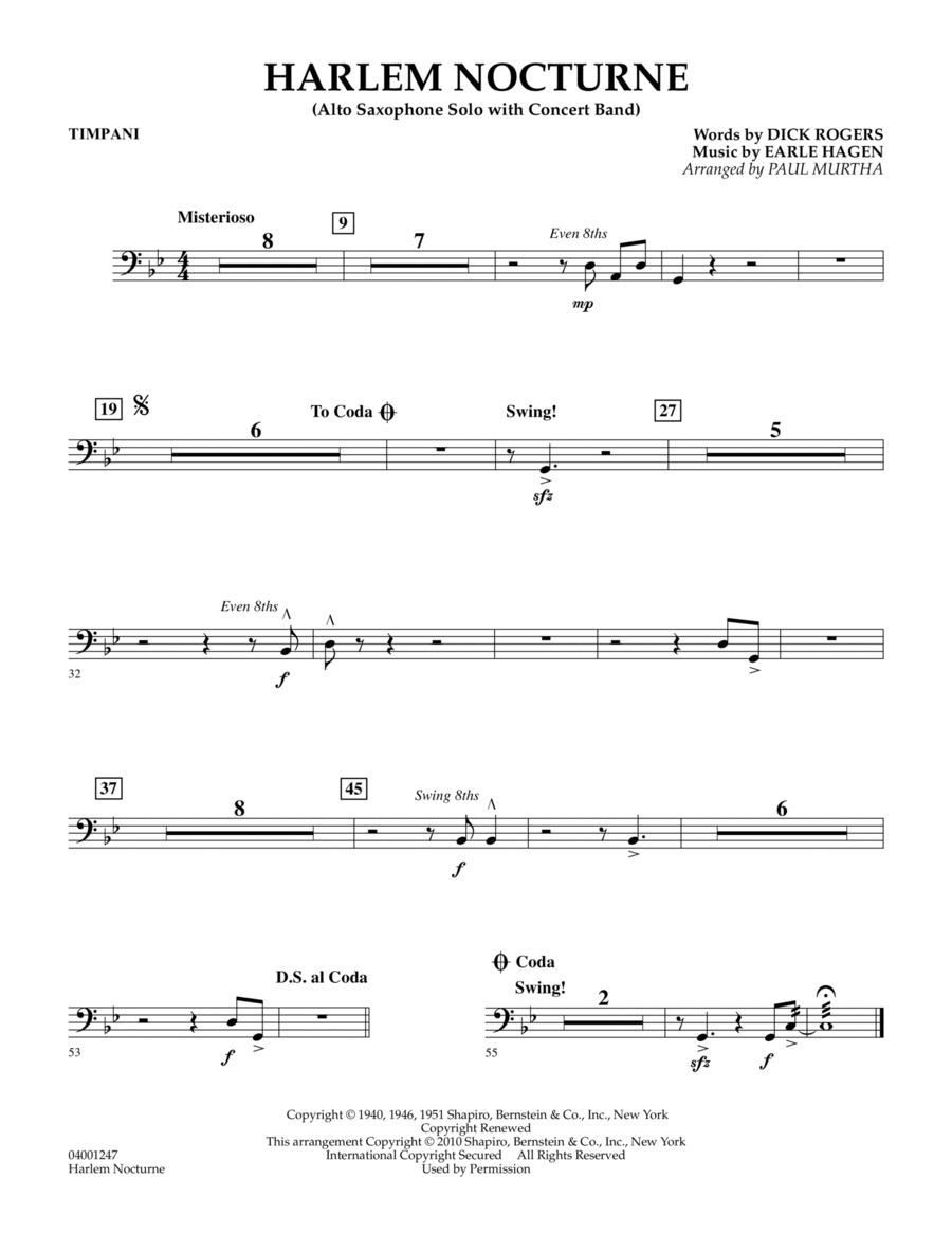 Harlem Nocturne (Alto Sax Solo with Band) - Timpani