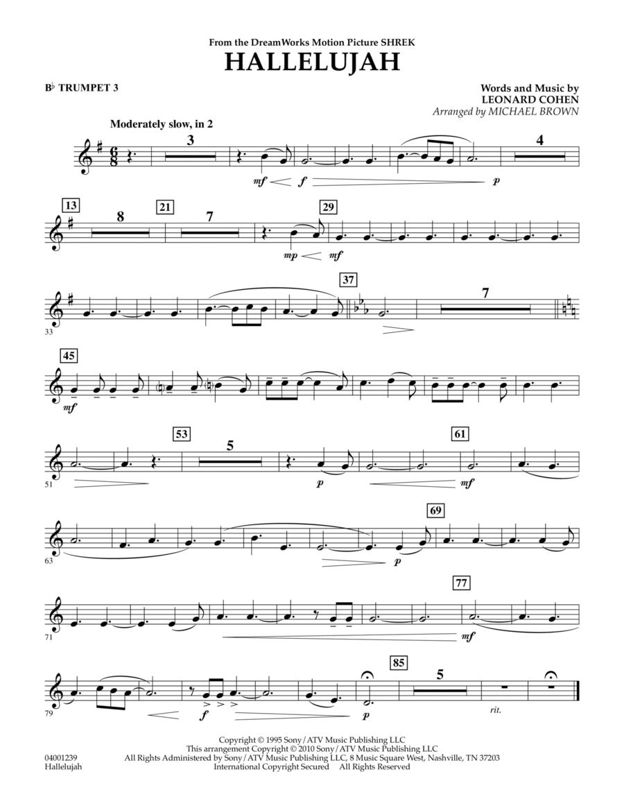 Hallelujah - Bb Trumpet 3