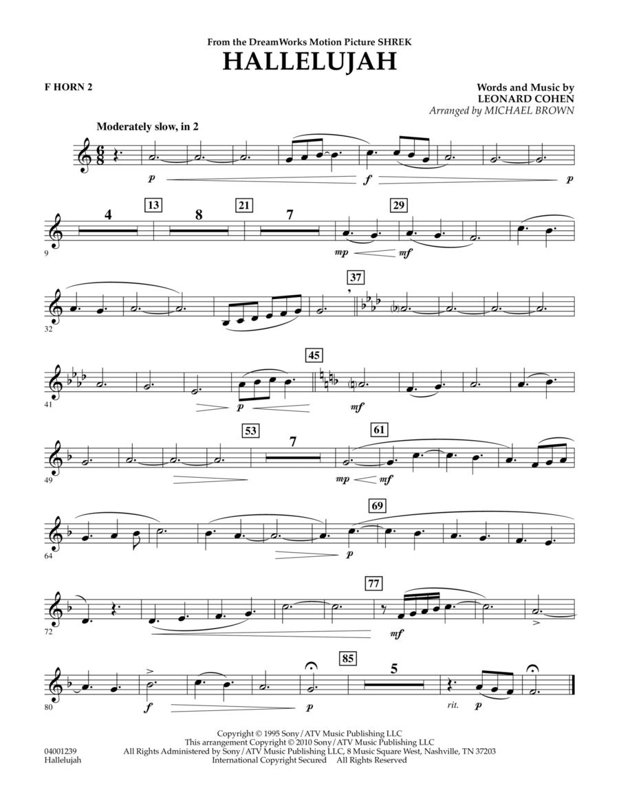 Hallelujah - F Horn 2
