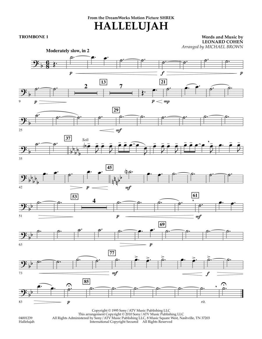 Hallelujah - Trombone 1