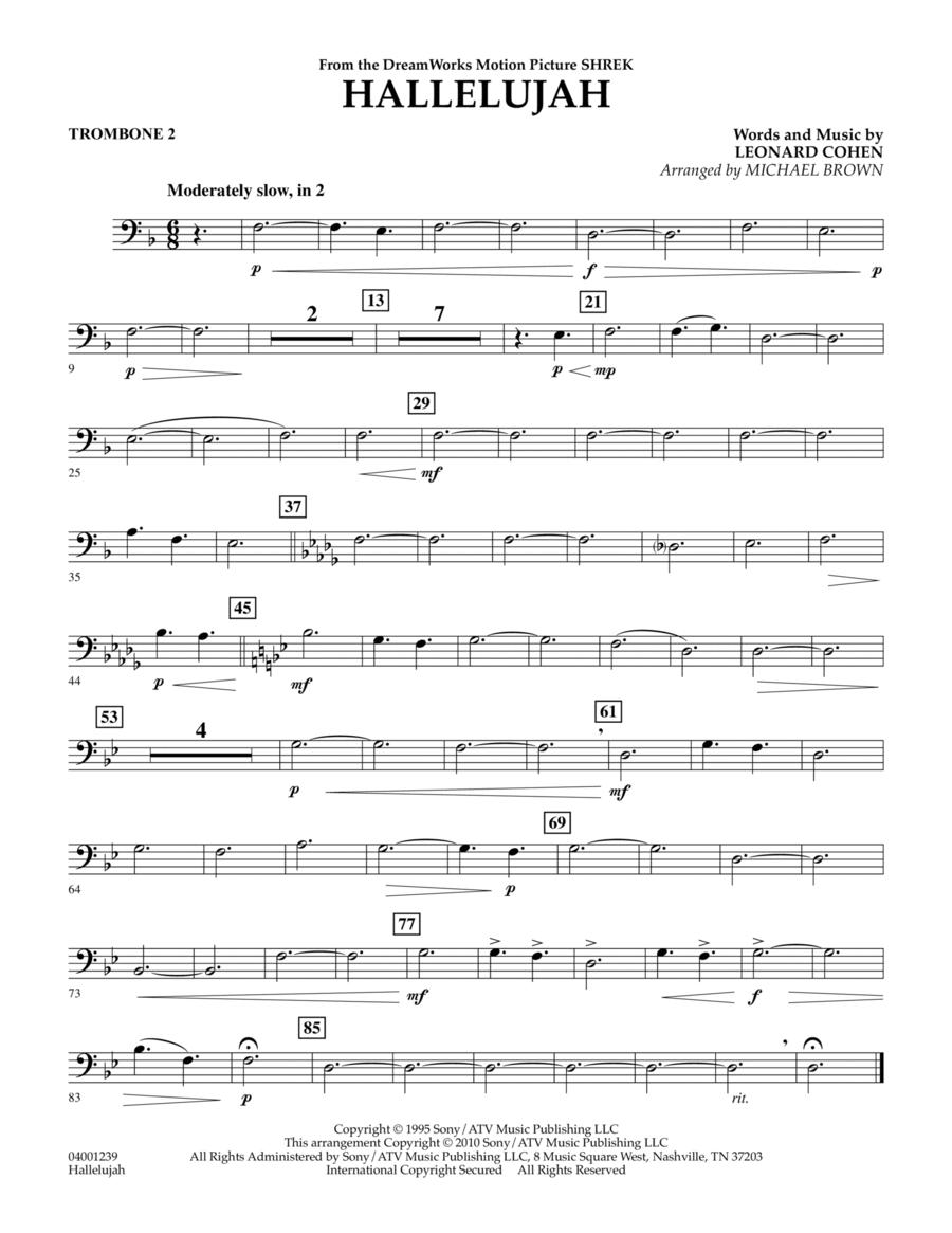 Hallelujah - Trombone 2