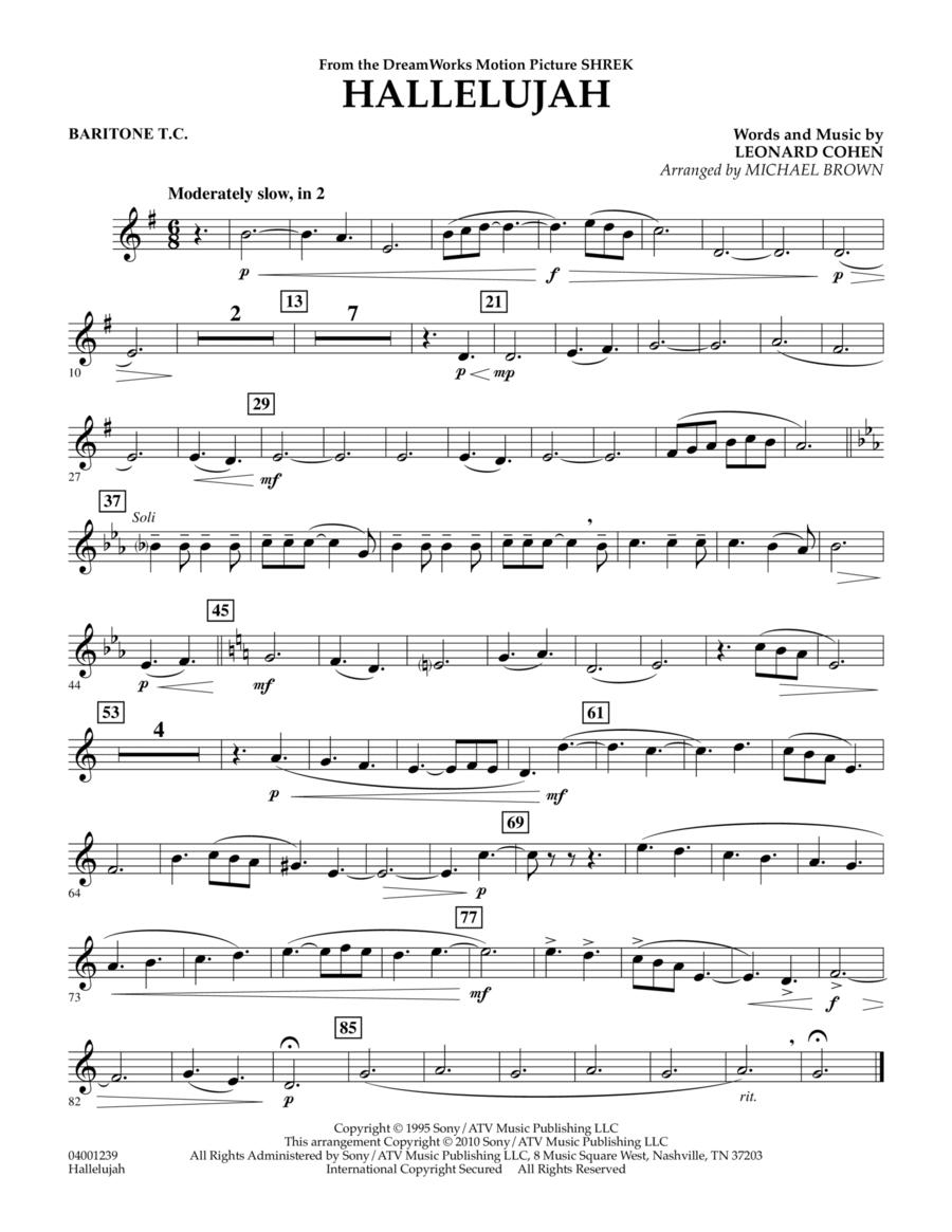 Hallelujah - Baritone T.C.