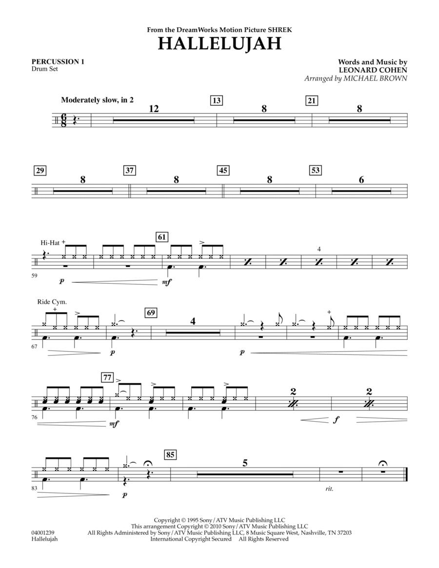 Hallelujah - Percussion 1