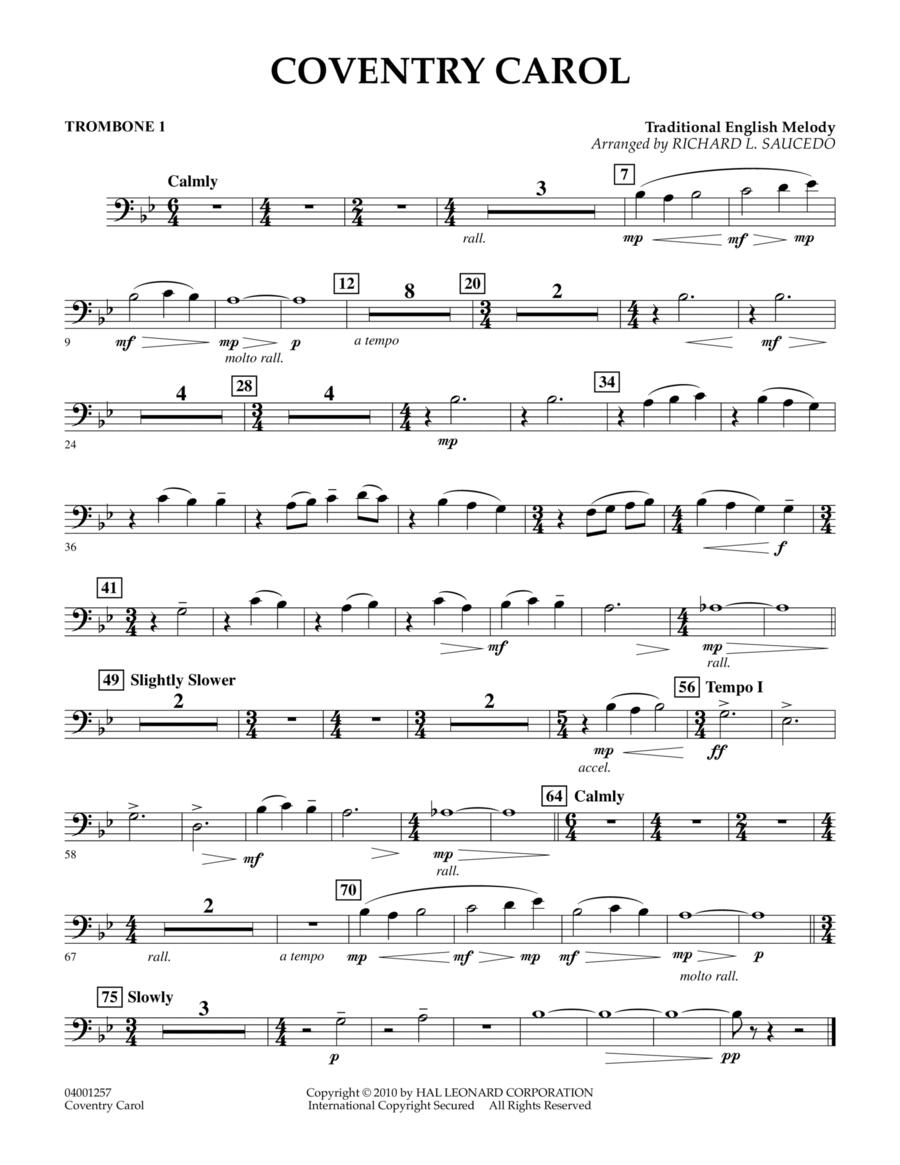 Coventry Carol - Trombone 1