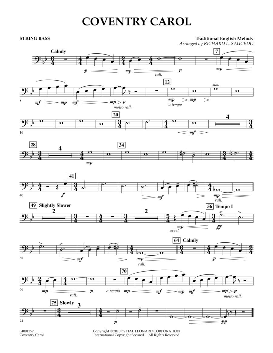 Coventry Carol - String Bass