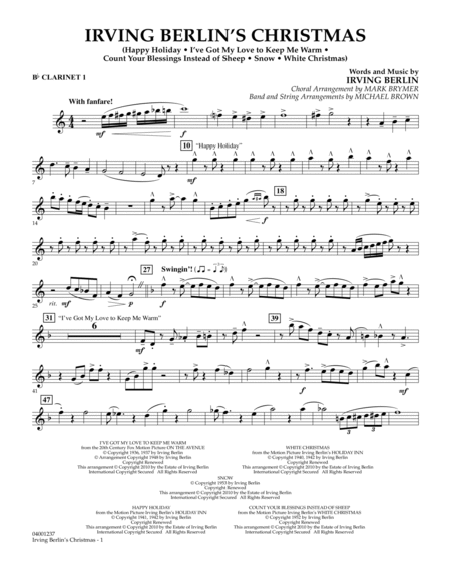 Irving Berlin's Christmas (Medley) - Bb Clarinet 1