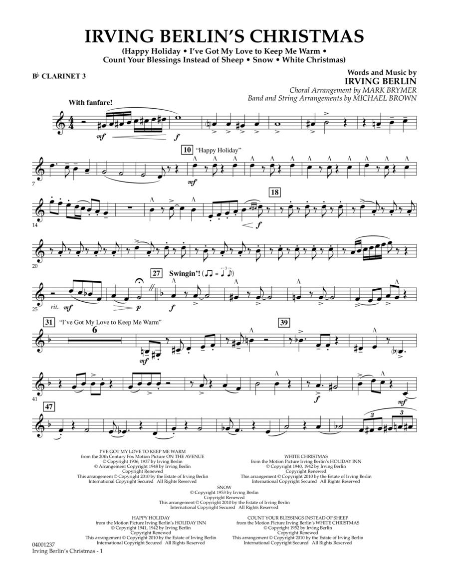 Irving Berlin's Christmas (Medley) - Bb Clarinet 3