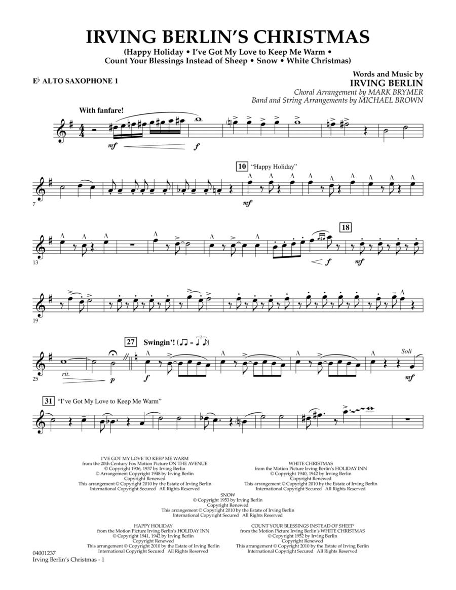 Irving Berlin's Christmas (Medley) - Eb Alto Saxophone 1