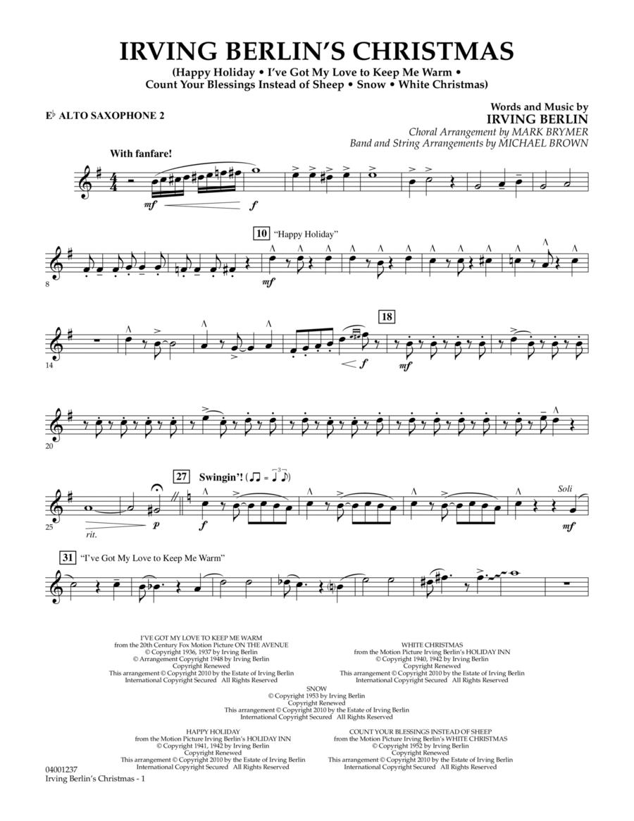 Irving Berlin's Christmas (Medley) - Eb Alto Saxophone 2