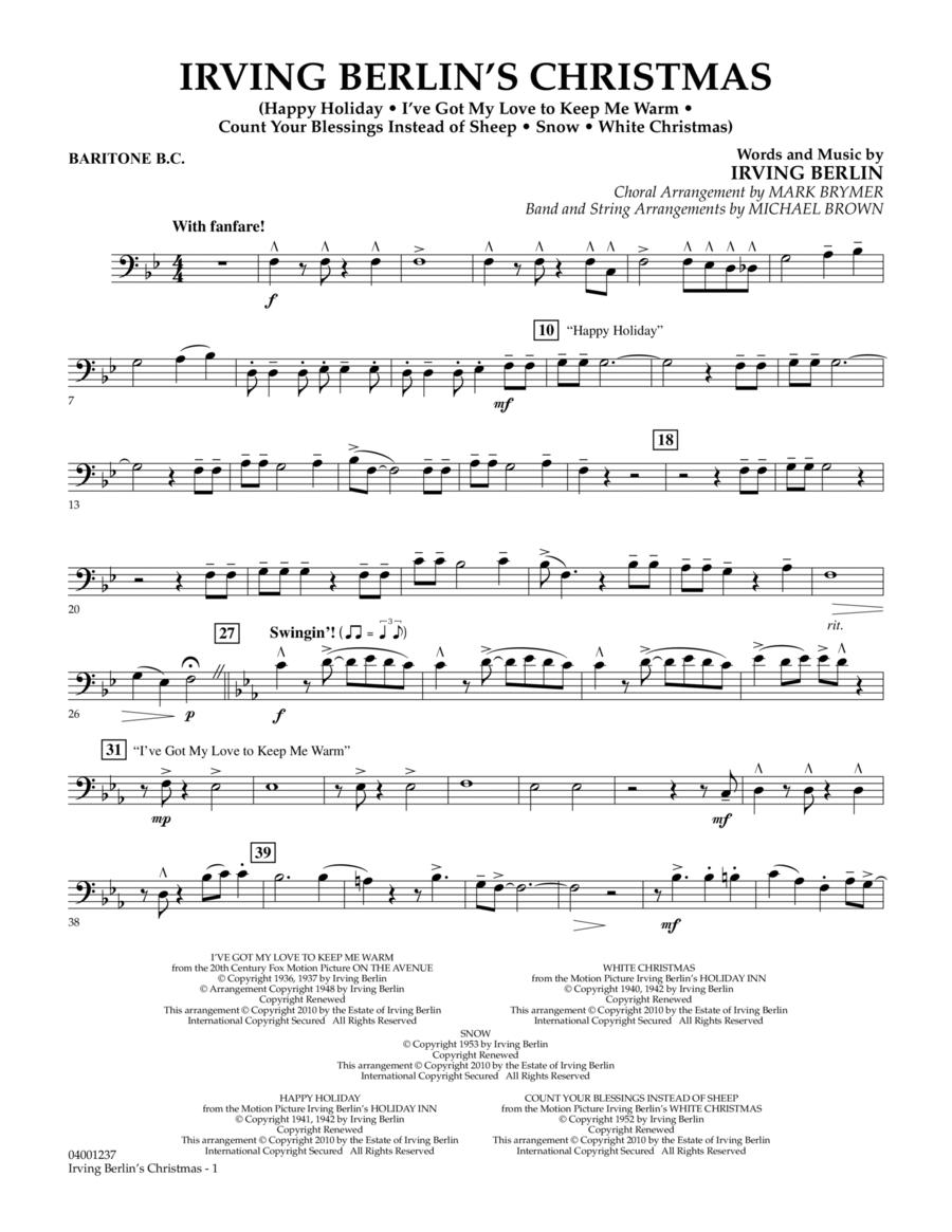 Irving Berlin's Christmas (Medley) - Baritone B.C.