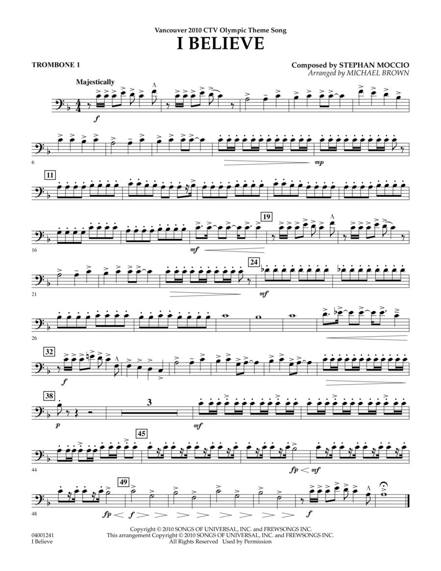 I Believe (Vancouver 2010 CTV Olympic Theme Song) - Trombone 1