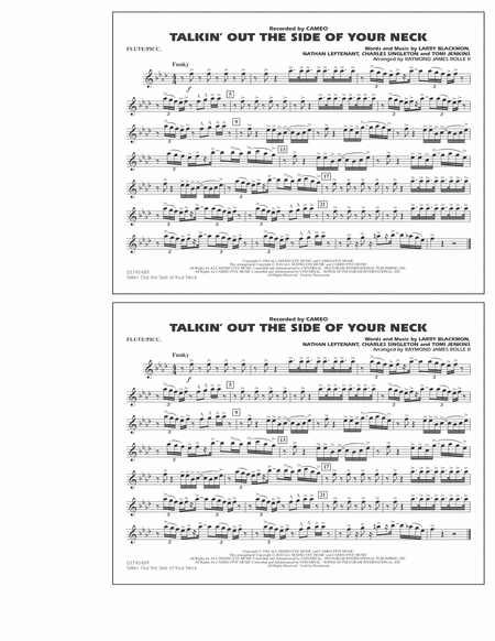 Talkin' Out The Side Of Your Neck - Flute/Piccolo