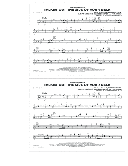 Talkin' Out The Side Of Your Neck - Eb Alto Sax
