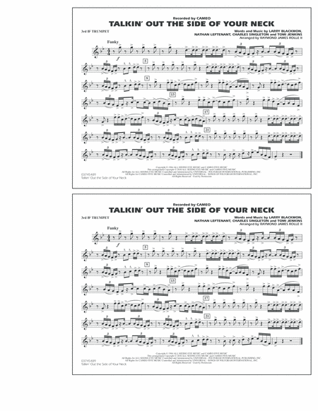 Talkin' Out The Side Of Your Neck - 3rd Bb Trumpet
