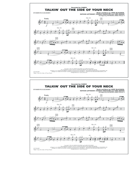 Talkin' Out The Side Of Your Neck - Bb Horn/Flugelhorn