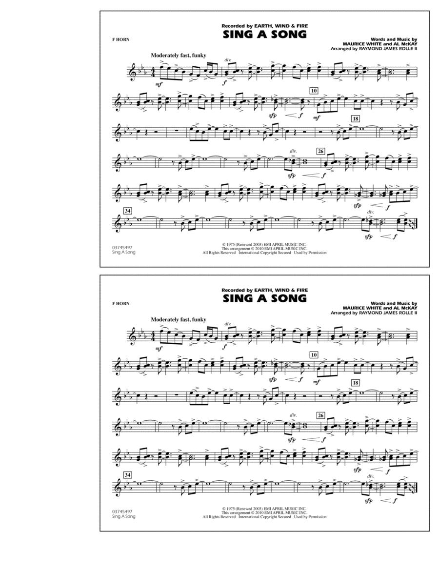 Sing A Song - F Horn