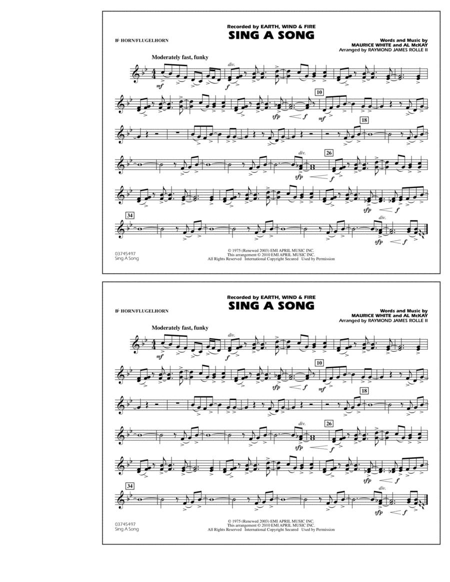 Sing A Song - Bb Horn/Flugelhorn