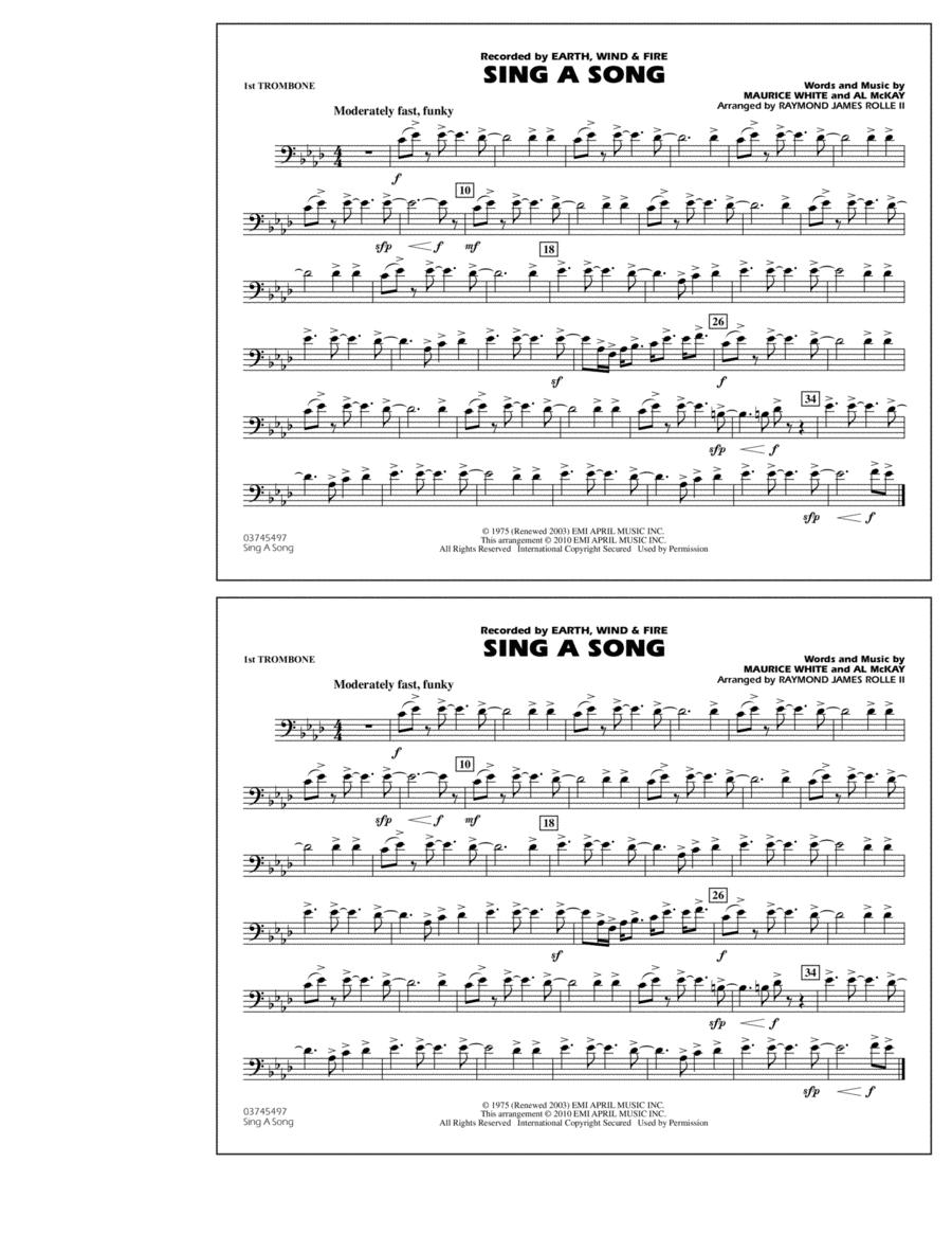 Sing A Song - 1st Trombone