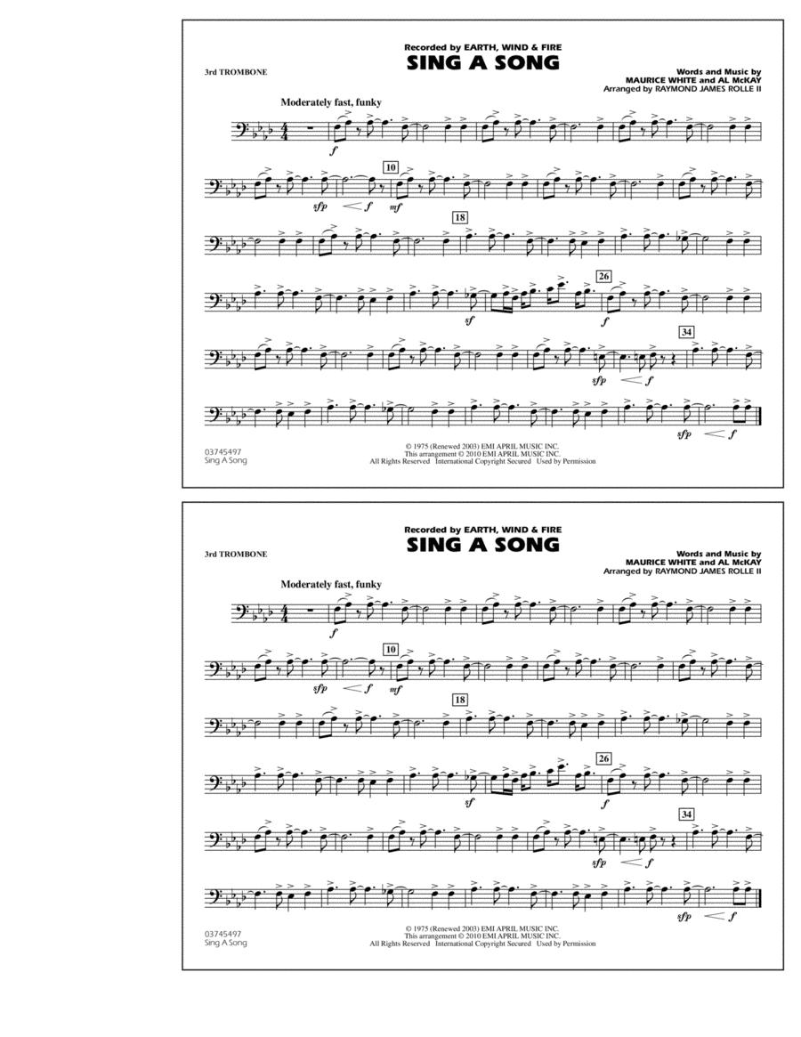Sing A Song - 3rd Trombone