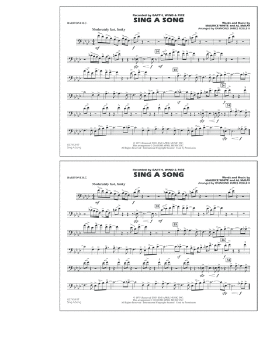 Sing A Song - Baritone B.C.